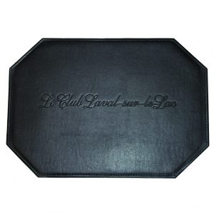 Hexagonal leatherette placemat