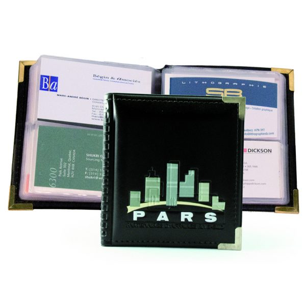 Business card holder in leatherette (56 cards)