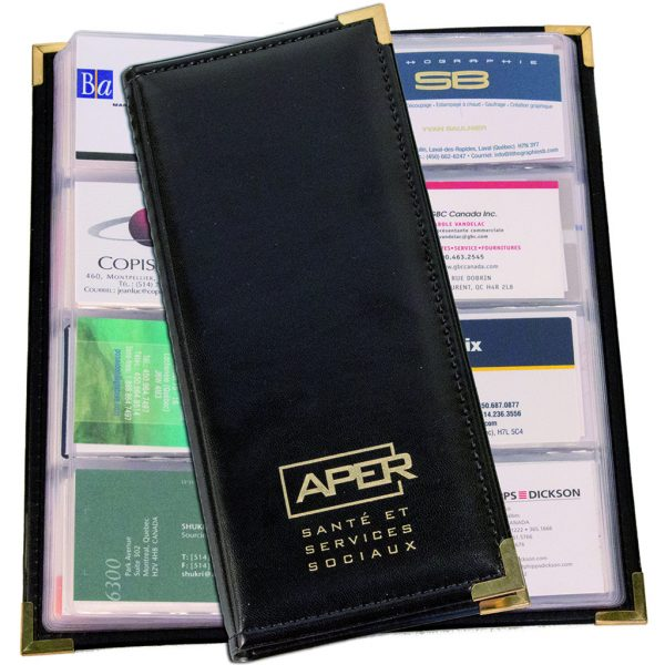 Business card holder in leatherette (96 cards)