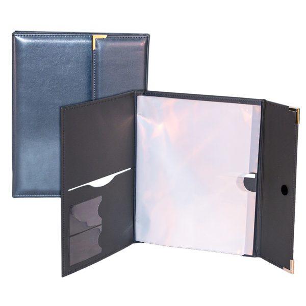 Deluxe tri-fold distinctive policy holder
