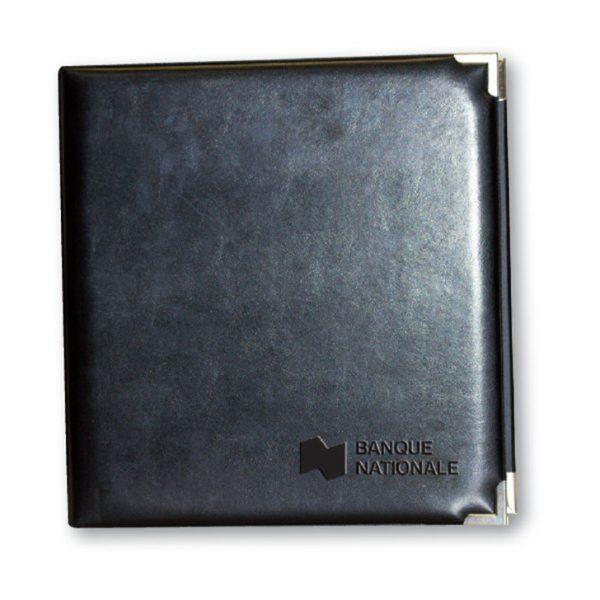 Deluxe leatherette presentation binder 1 1/2''