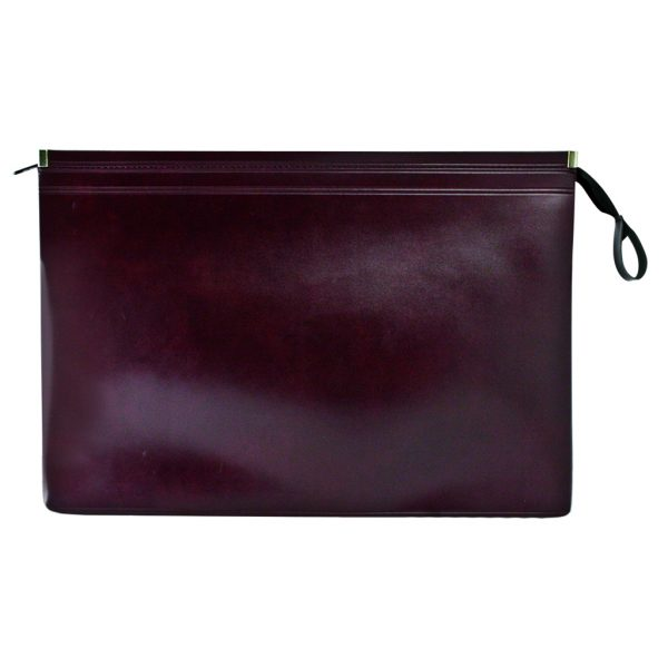 Underarm briefcase in synthetic leather