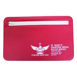 Mini briefcase with zipper