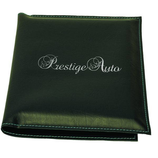 Car warranty holder in synthetic leather