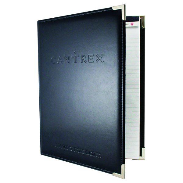 Deluxe leatherette desk folder