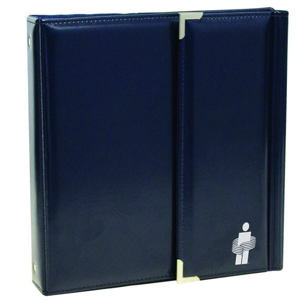Leatherette tri-fold binder