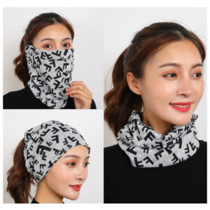 Double layer cotton scarf